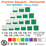 Blank Fraction Square Clip Art 644 Images - Horizontal - C
