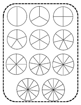 image relating to Fraction Circles Printable identify Blank Portion Circles Worksheets Instruction Elements TpT