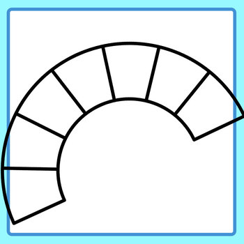Blank Fractioned Semi Circles Blank Template Clip Art Set for Commercial Use