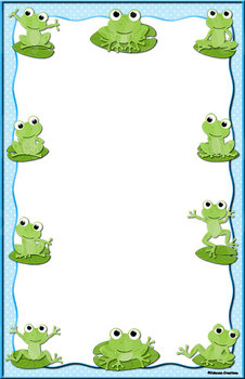 "Blank Frog 11"" x 17"" Chart"