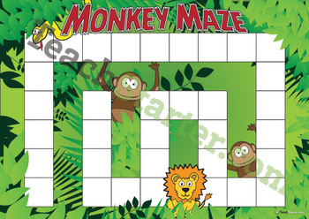 Blank Game Board – Monkey Maze
