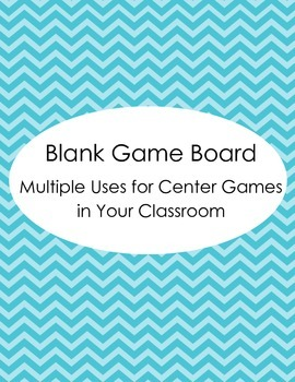 Blank Game Board - Multiple uses for any classroom