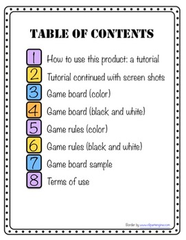 Blank Game Board Template (Customize for Games, Activities, Newsletters, etc.)
