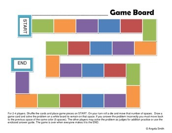 Blank Game Board and Cards
