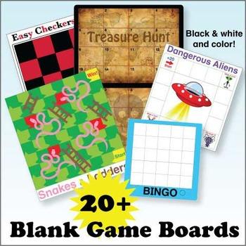 Blank Game Boards Bundle
