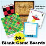 Blank Game Board Set