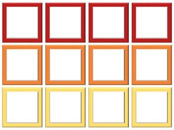 Blank Game Boards - 4 Seasons Theme (Print, Write, Go! - No Typing)