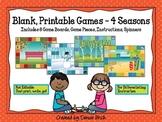 8 Blank Game Boards - 4 Seasons Theme (Print, Write, Go! -