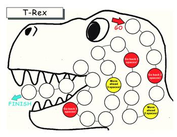 Blank Game Boards-Dinosaur Theme