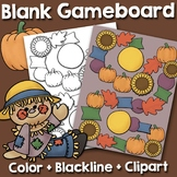 Blank Gameboard and Fall Clipart