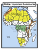 Blank Geography: Africa Maps: Students Color