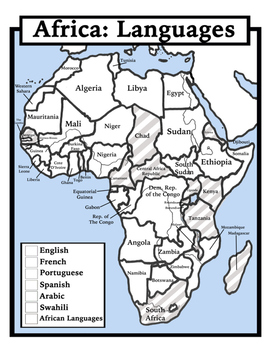 Blank Geography Africa Maps Students Color by Shoestring Hill TpT