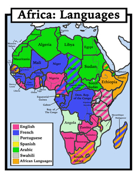 Blank Geography: Africa Maps: Students Color by Shoestring Hill | TpT