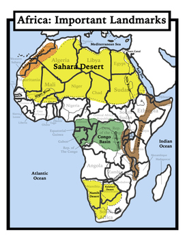 Africa Map Geography.Blank Geography Africa Maps Students Color By Shoestring Hill Tpt