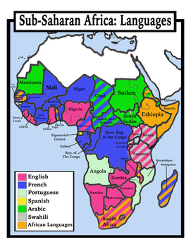 Blank Geography: Sub Saharan Africa Maps: Students Color by