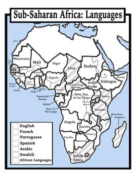 Blank Sub Saharan Africa Map Blank Geography: Sub Saharan Africa Maps: Students Color by