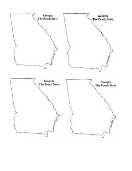 Blank Georiga Map