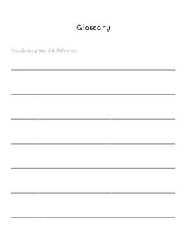 Blank Glossary