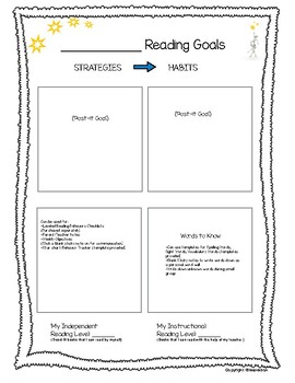 Blank Goal Sheet or Conference Tracker with Pre-made Post-its