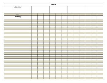 Blank Grade Book
