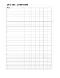 Blank Gradebook