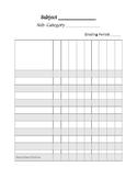 Blank Gradebook Page
