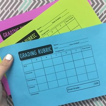 Blank Grading Rubrics