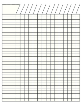 Blank grading sheet by lovely yellow house teachers pay for Class record book template