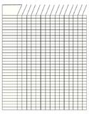 Blank Grading Sheet