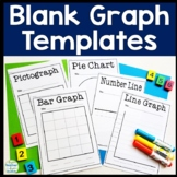 Blank Graph Templates: Bar Graph, Pie Chart, Pictograph, Line Graph, Number Line