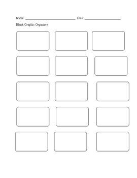 Blank Graphic Organizer