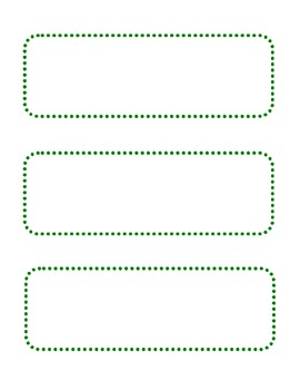 Blank Green Dot Cards