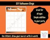 Blank Halloween Bingo Printable for DIY Sticker Bingo Game for Halloween Party