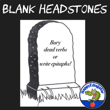 Blank Headstone for Writing Character Epitaphs or Burying ...