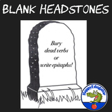 Blank Headstone for Writing Character Epitaphs or Burying Dead Words