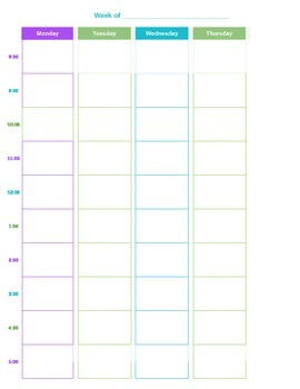 picture about Blank Daily Schedule referred to as Blank Day-to-day Timetable Template