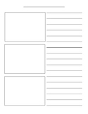 Blank How-To Writing Template with Picture Boxes