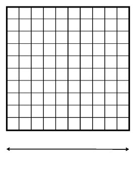 Blank Hundred Chart and Number Line
