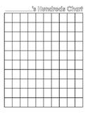Blank Hundreds Chart FREEBIE