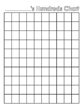 picture about Printable Blank Hundreds Chart known as Blank Countless numbers Chart FREEBIE