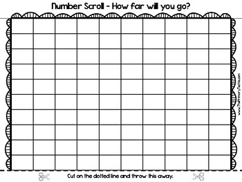 Blank Hundreds Chart (SCROLLING!)