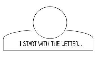 """Blank """"I Start With the Letter"""" Crown Template"""
