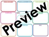 Blank IDL/Cross Curricular Planning Template