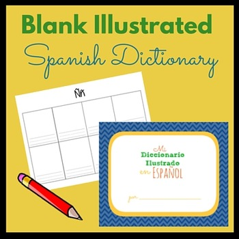 Blank Illustrated Spanish Dictionary