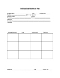Blank Individualized healthcare Plan Template