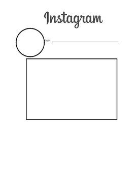 Blank Instagram Template