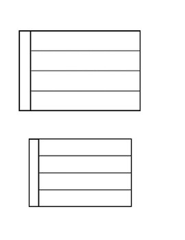 Interactive  Notebook Templates for all subject areas Blank Interactive template