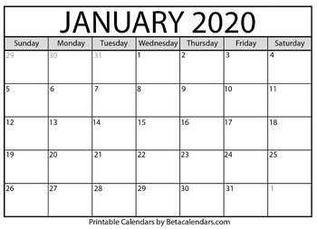 picture regarding January Calendar Printable identify Blank January 2020 Calendar Printable through Mateo Pedersen TpT