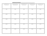 Blank Jeopardy Board - Worksheet