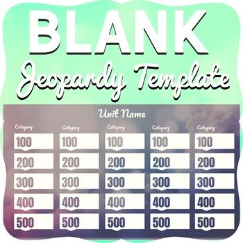 Blank Jeopardy Game Template-100% Editable